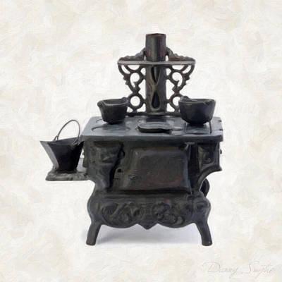 Old Objects Painting - Antique Stove by Danny Smythe