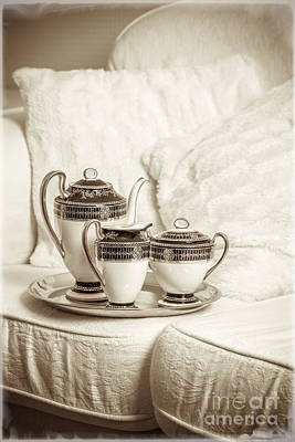 Antique Tea Set Print by Amanda And Christopher Elwell