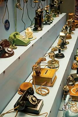 Antique Telephones Print by Jim West