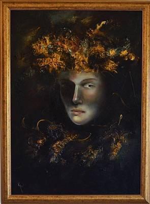 Quadri Painting - Antique Tones By Mihaela Ghit by Mihaela Ghit