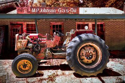 Antique Tractor Print by Debra and Dave Vanderlaan
