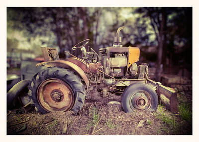 Antique Tractor Home Built Print by Yo Pedro