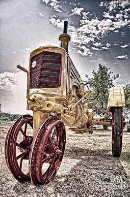 Antique Tractor Print by Tamyra Ayles