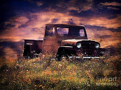 Antique Truck Print by Darren Fisher