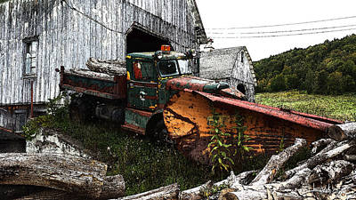 Michael Spano Photograph - Antique Truck With Plow by Michael Spano