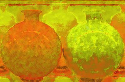 Patina Digital Art - Antique Vases by Ben and Raisa Gertsberg