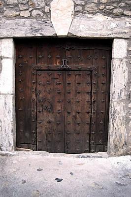 Old Door Photograph - Antique Wood Door by Gina Dsgn