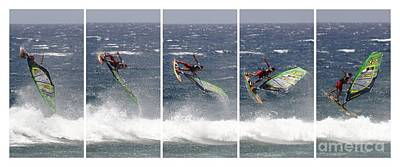 Pentaptych Photograph - Antoine Martin Getting Air by Andy Holmes