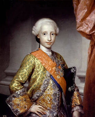 Anton Raphael Mengs Painting - Antonio Pascual De Bourbon. Infante Of Spain by Anton Raphael Mengs