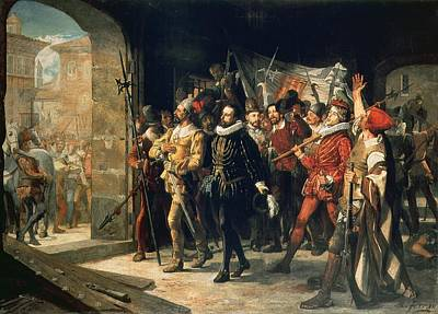 Warden Photograph - Antonio Perez 1540-1611 Released From Prison By The Rebels In 1591 Oil On Canvas by Augustus or Augusto Ferran