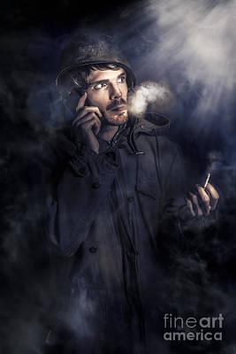 Nightwatch Photograph - Anxious Australian Sas Soldier On Night Watch by Jorgo Photography - Wall Art Gallery