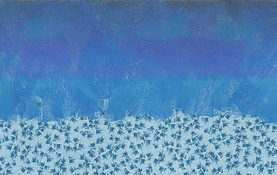 Anything But Blue Holiday Blues Print by Lorri Crossno