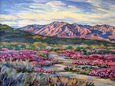 Verbena Painting - Anza-borrego Desert At Sunset by Robert Gerdes