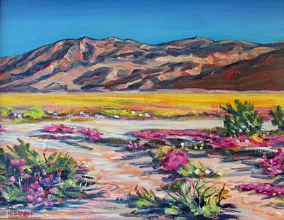 Verbena Painting - Anza Borrego Mountains by Robert Gerdes