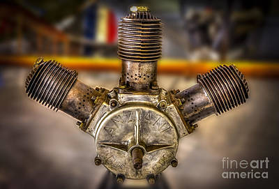 Airplane Engine Photograph - Anzani Fan by Marvin Spates