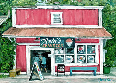 Haleiwa Painting - Aoki's by Stacy Vosberg