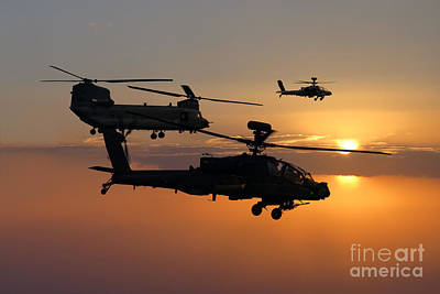 Apache Escort  Print by J Biggadike