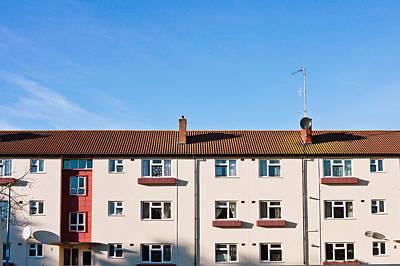 Apartment Block Print by Tom Gowanlock