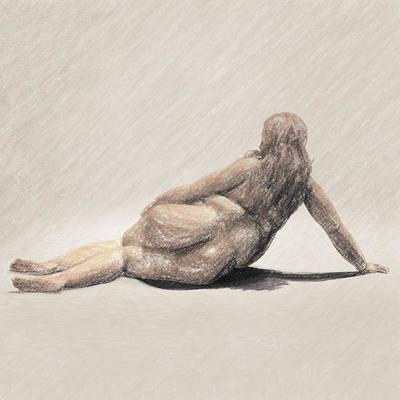 Philosophical Drawing - Apathy by Taylan Apukovska
