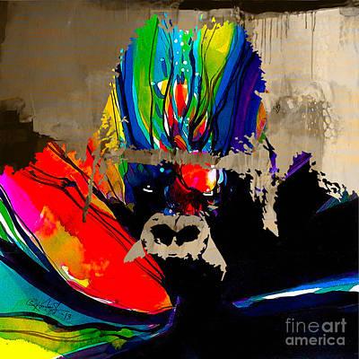 Gorilla Mixed Media - Ape by Marvin Blaine