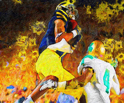 University Of Michigan Painting - Apex by John Farr