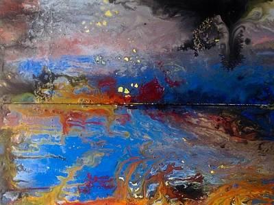 Thunder Painting - Apocalypse Of The Mind by Pamela Saramandif