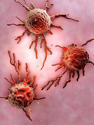 Apolipoproteins On Cells Print by Gunilla Elam