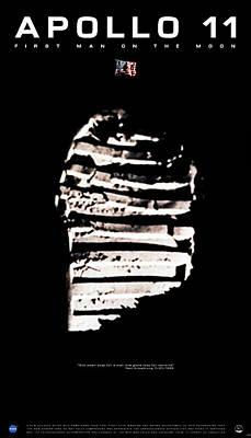 Apollo 11 Footprint Print by Weston Westmoreland