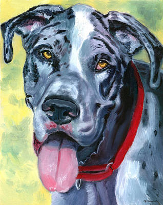 Harlequin Painting - Apollo Of Dogs - Great Dane by Lyn Cook