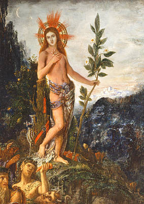 Moreau Painting - Apollo Receiving The Shepherds Offerings by Gustave Moreau