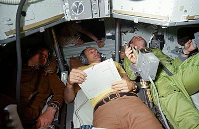 Astronauts Photograph - Apollo Soyuz Test Project Crew Training by Nasa