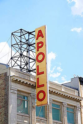 Harlem Photograph - Apollo Theater Sign by Valentino Visentini
