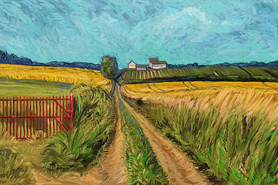 Apostelhoeve Wine Estate Wijngoed Maastricht Briex Landscape Fine Art Painting - Apostelhoeve Wine Estate Maastricht by Nop Briex