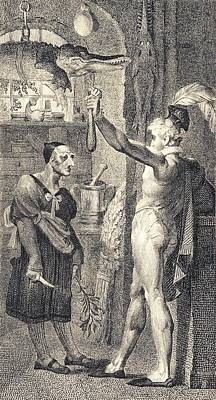 Apothecary In Romeo And Juliet, 1805 Print by Science Photo Library