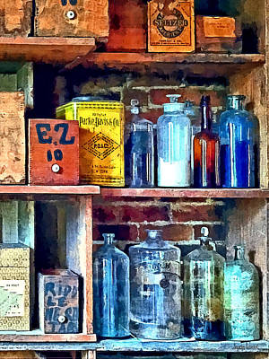 Store Photograph - Apothecary Stockroom by Susan Savad