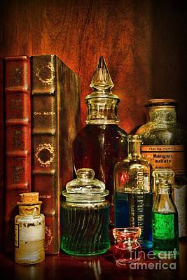 Apothecary - Vintage Jars And Potions Print by Paul Ward