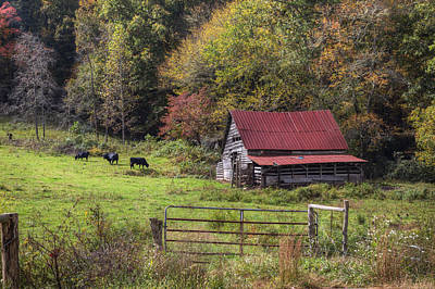 Appalachian Farm Barn Print by Debra and Dave Vanderlaan