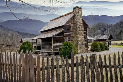 Log Cabin Art Photograph - Appalachian Mountain Cabin by Randall Nyhof