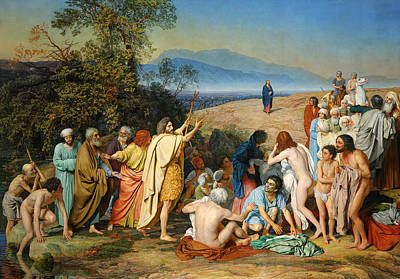 Alexander Ivanov Painting - Appearance Of Christ To The People by Alexander Andreyevich Ivanov