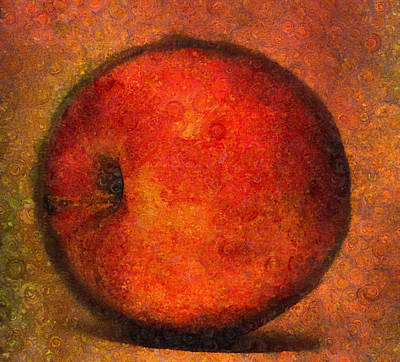 Orange Mixed Media - Apple A Day-abstract Realism by Georgiana Romanovna