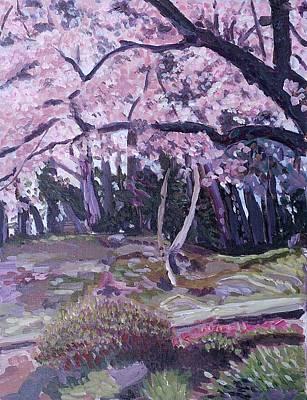 Apple Blossoms Print by Janet Ashworth