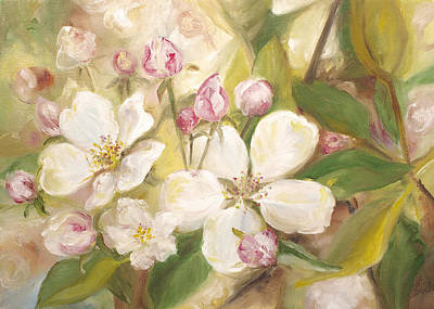 Painting - Apple Blossoms  by John and Lisa Strazza