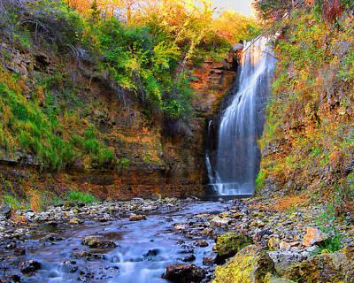Photograph - Apple Canyon Waterfall by Dan  Dickerson