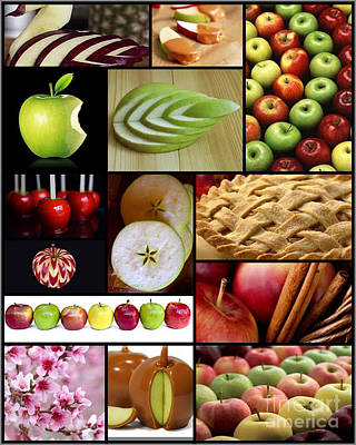 Collage Photograph - Apple Collage by Andrea Cofferen