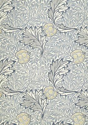 Decorative Art Mixed Media - Apple Design 1877 by William Morris