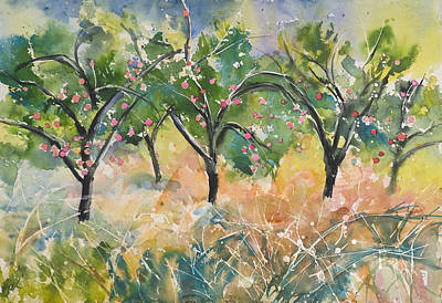 Brunch Painting - Apple Farm by Jack Tzekov