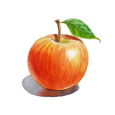 Red Apple Print by Irina Sztukowski