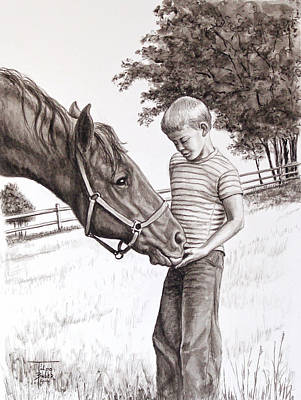 Pasture Scenes Drawing - Apple Lovers by Art By - Ti   Tolpo Bader