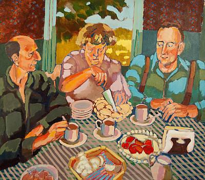 Brunch Painting - Apple Pie Brunch by Doris  Lane Grey