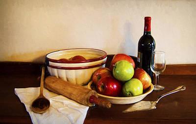 Apple Pie Impressions Print by Cricket Hackmann